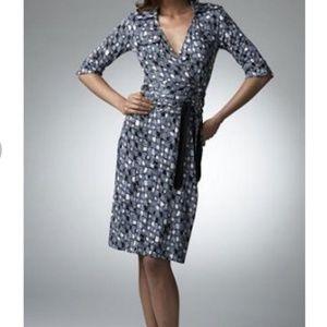 Diane Von Furstenberg DVF Silk Wrap Dress Sz 6